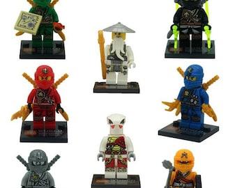 Lot of 8 figures Lego Ninjago customized