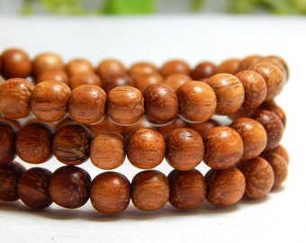6mm Bayong Wood Beads, Round Bayong Wood Beads, 6mm Wood Beads, 6mm Bayong, Natural Beads, Wood Beads, Wooden Beads, Earthy Beads, D-J04