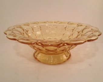 Vintage Yellow Glass Bowl - Large Serving Bowl - Tiara Glassware - Tiara - Tiara Exclusive - Yellow Glass - Bowl - Indiana Glass Company