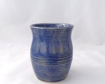 Dark Blue Carved Vase