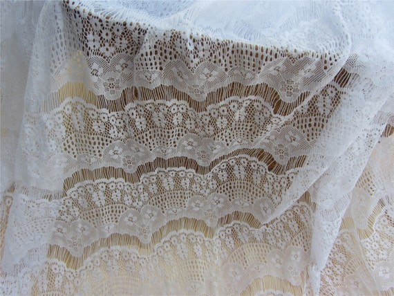 Snow white lace white lace diy lace fabric online store for Wedding dress fabric stores