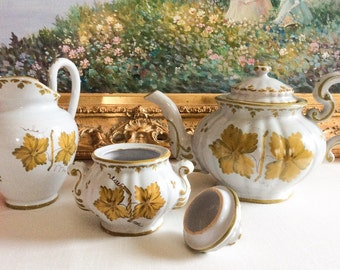 Vtg Italian Ivy Tea Set