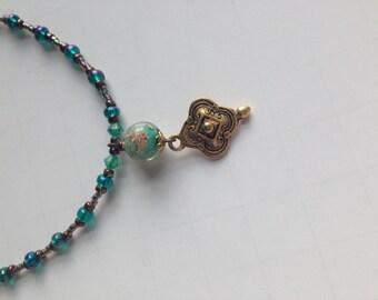 Venetian Sea Glass Bead Necklace