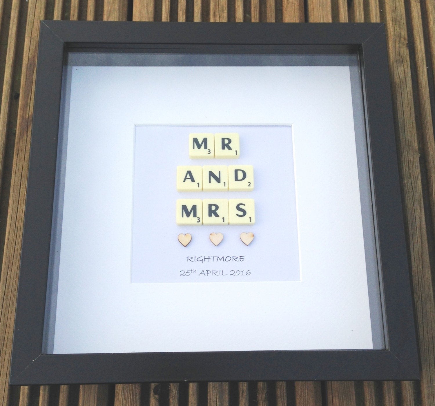 Wedding Gift Framed Art : Scrabble Art Frame Wedding Gifts Personalised Framed