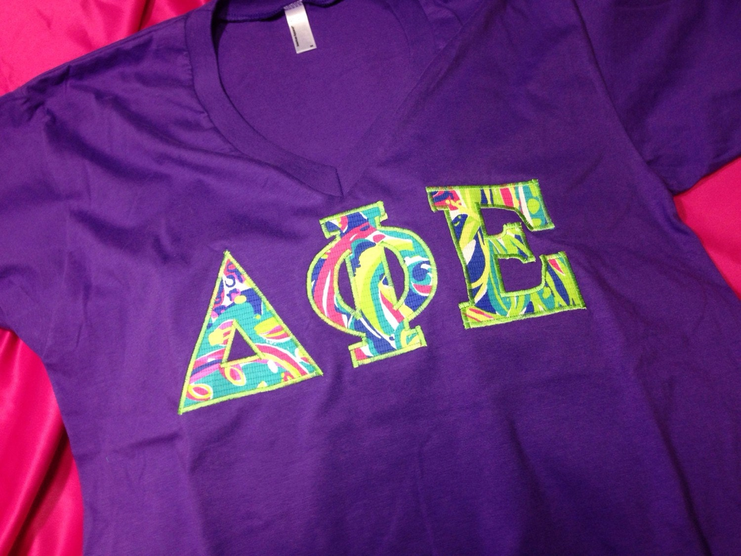 Delta Phi Epsilon Lilly V Neck T Shirt In Size Xs To Xl