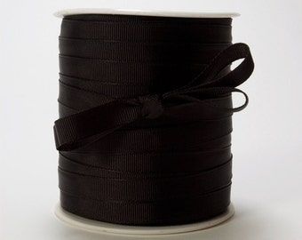 "3/8"" Black Grosgrain Ribbon from May Arts - 10 Yards"