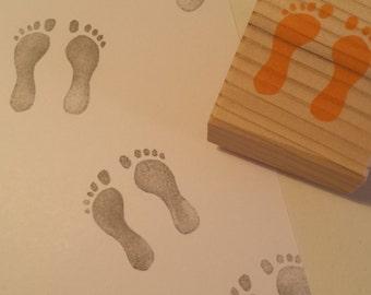 Buffer trace feet / Footprints rubbertamp