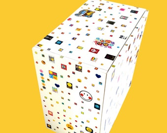 Storage shelf STICKERSMAN -- wooden storage cube, customized with stickers by SophieLDesign