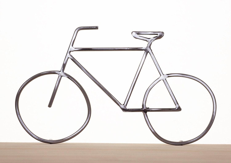 Wall Art Metal Bicycle : Metal bike art sculpture bicycle wall
