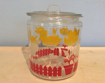 Vintage candy dish canister bunny duck sheep