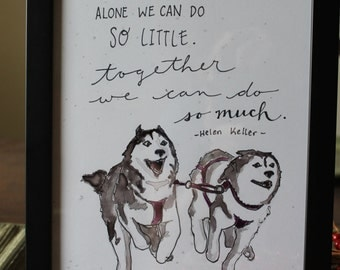 "Together We Can Do So Much - Original Libbydoodle design - 8x10"" PRINT"