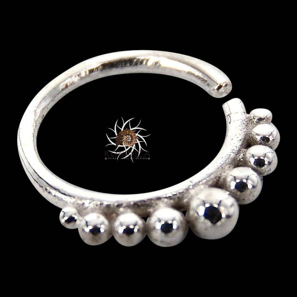 aditi silver septum ring septum jewelry septum piercing
