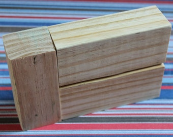 Unfinished stacking blocks unfinished wood block trio diy for Plain wooden blocks for crafts