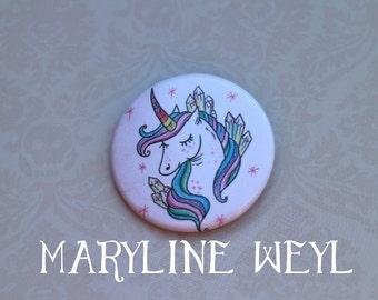 Unicorn Rainbow pin badge