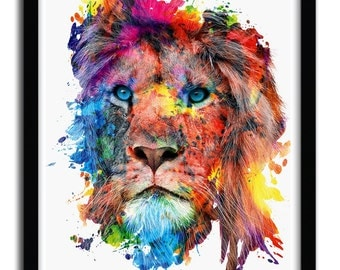 Print Lion by Riza Pekler