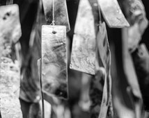 Shell Wind Chime Photo, Black and White Abstract Photography, Fine Art, Wall Decor, Modern Home Decor, Office Decor, Minimalist Print