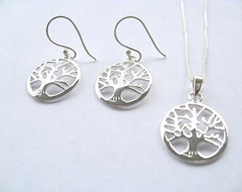 Tree of Life Set - Sterling Silver