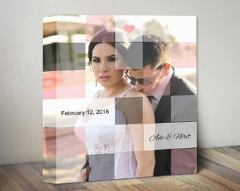 Personalized couples gift. Anniversary Gift. Romantic Gift for Couples. Custom Wedding Photo Gift. Anniversary Keepsake. Unique Wedding Gift