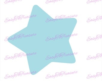 Digital Download Clipart – Blue Star JPEG and PNG files