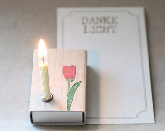 Candle light to the thank you say with Tulip (SL-24)