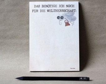 Notepad for world domination