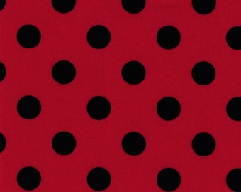 Oxford Cloth - Red/Black Dots by Lecien (LEC4601-RB) Cotton Fabric Yardage
