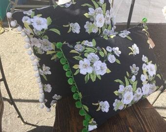 Vintage Floral Accent Pillow