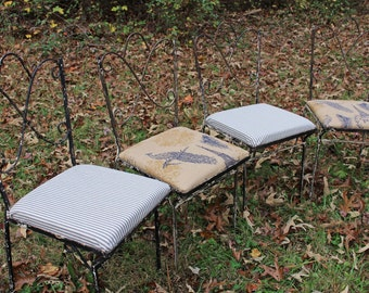 Authentic Vintage Wrought Iron Patio Chairs French Country Shabby Chic Rustic Living
