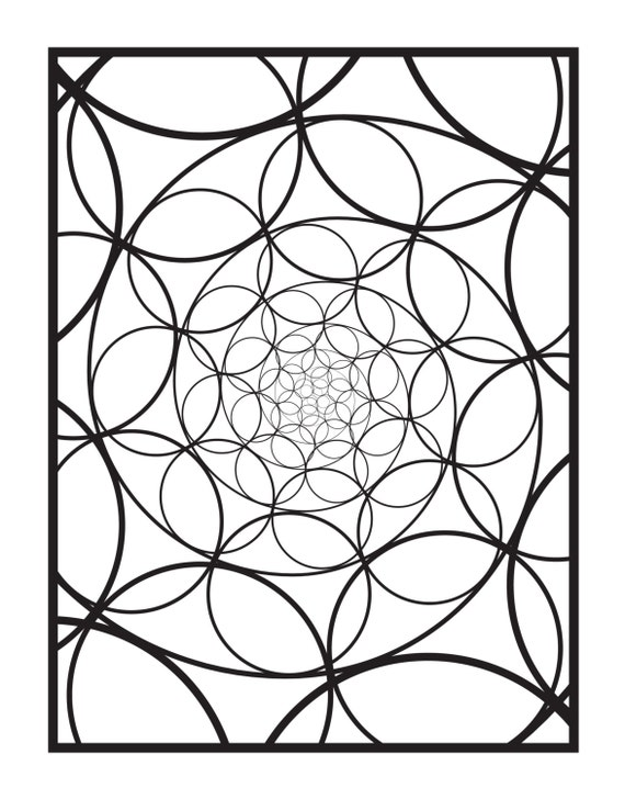 Spectral Digital Download Coloring Book Page Design