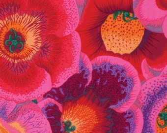 1/2 Yard Gloxinias Pink  Philip Jacobs fabric PJ071