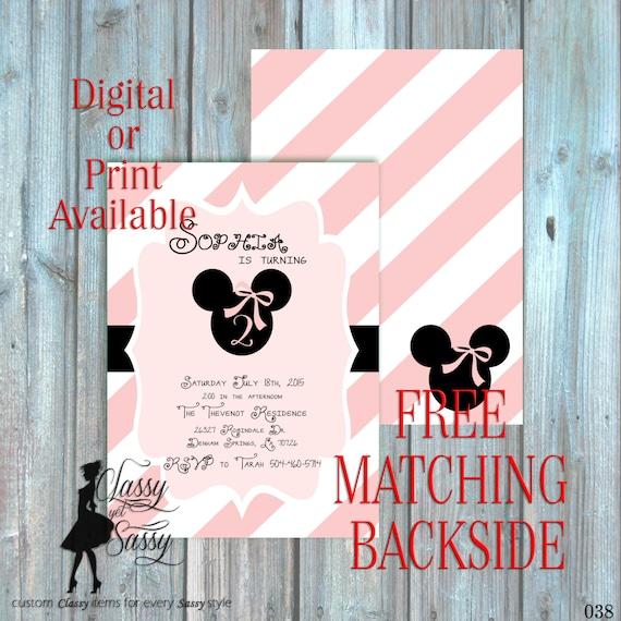 Mickey & Minnie Invitations with beautiful invitation sample