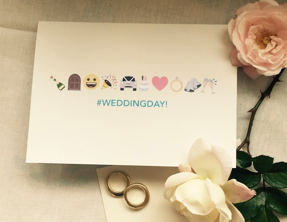 Emoji Wedding Day Greeting Card