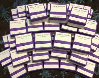 Wedding invitations in box with confetti