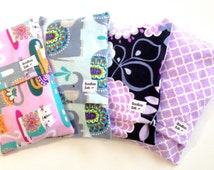 2 heating pads, Flax BOOBOO BAGS-Baby shower gift, Mothers milk warmer, Hot / Cold Pack-Removable / Washable / Microwavable, Hand warmer