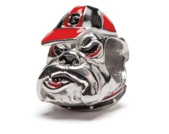 Georgia Bulldog Bead Charm Fits Pandora