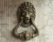 French Solid Bronze Lion Mask Door Knocker