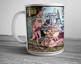 Comic Strip Ad Coffee Mug Amazing Sea-Monkey Mail In Order Form Newspaper Funny Pages, Magazine, Comic Book Ad, Vintage Advertising