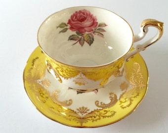 Signed Paragon China Tea Cup and Saucer Teacup Set