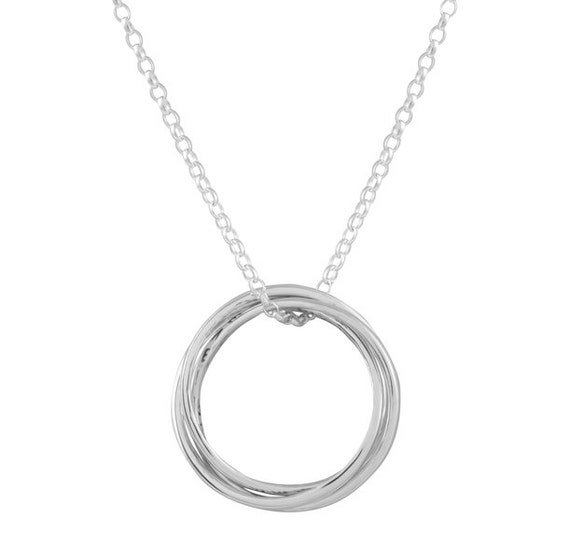 Personalized Sterling Silver Russian Ring Necklace Name