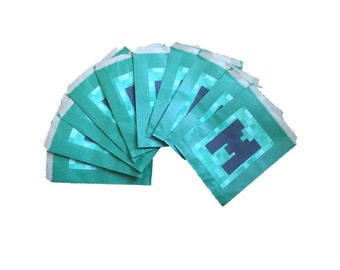 Party Bags, small. Minecraft Style.