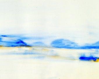 "Watercolor ""Morning Lake"""