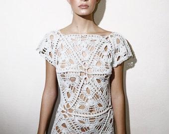 vestido elaborado en algodón reciclado / dress made of recicle cotton