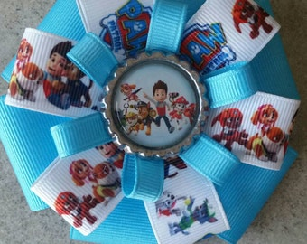 Paw Patrol Hair Bow. The Whole Gang!