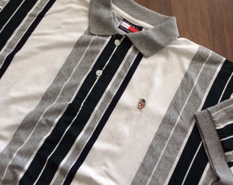 Vintage Tommy Hilfiger striped polo crest shirt