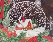 Cross Stitch Christmas Traditions 1936 Snow Globe Kit