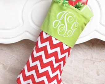 SALE Monogrammed or Personalized Christmas Stocking