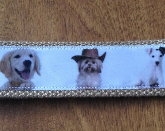 Dog Puppy Puppies  wristlet key fob holder, Zipper Pull Key Chain