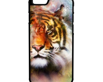 Tiger Face iPhone Galaxy Note LG HTC Hybrid Rubber Protective Case