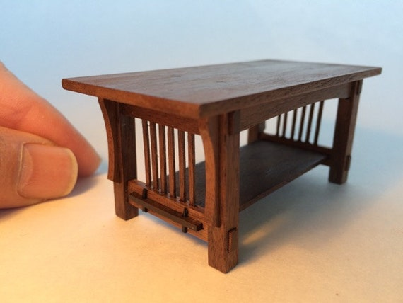 Mission Coffee Table Walnut 1 Inch Scale Stickley Arts And