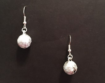 Medium Silver Bell Earrings